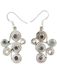Pendientes de la manera de la plata esterlina 925 pendientes cuelgan étnico regalo indio para las mujeres