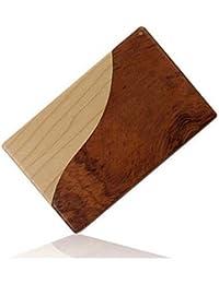 Sólido titular de la tarjeta de visita de madera creativo Tarjeta de visita de los regalos de la máquina Pinmao Cardcase