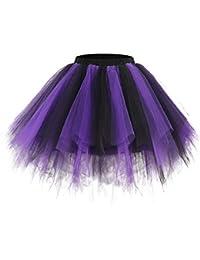 Bridesmay Jupe Jupon Ballet Tutu Underskirt en Tulle Style Vintage Années 50 Rockabilly Carnaval festivités Couleurs Variées