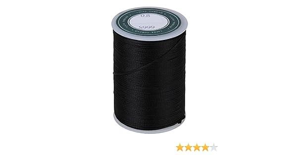 schwarz 3-Ply DIY Runde Gewachste Polyester Cord Leder Naehgarn Cord 300M
