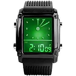 Men's Square Wristwatch - SKMEI LED Model Square Digital Sport Waterproof Men's Wrist Watch, Black