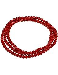 Koralle Armband, natürlich, rot, 4mm Durchmesser, mehrere Stränge