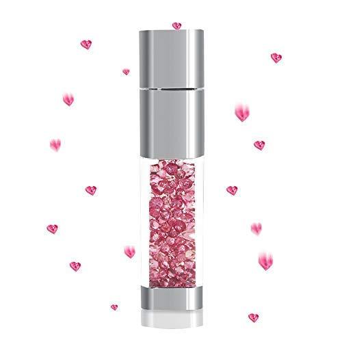 Chiavetta usb 2.0 da 32 gb, con brillantini, a forma di rossetto, con collana luccicante sakura pink 32 go