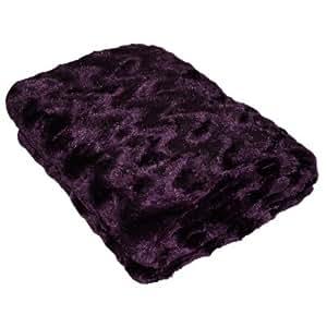 linens limited jet de lit canap snuggle touch imitation fourrure waves violet 130 x 180. Black Bedroom Furniture Sets. Home Design Ideas