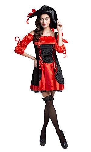 LifeWheel Halloween Rot Piraten Kleid Cosplay Kostüme und Piraten Hut