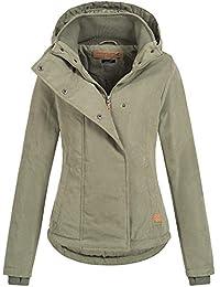 ecfb0be9afec Sublevel Damen D5174X46550D Jacke Übergangsjacke mit Kapuze 13 Farben XS-XL  Middle Green L