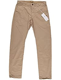 Closed Herren Clifton Slim Stretched Pima Chino Dune