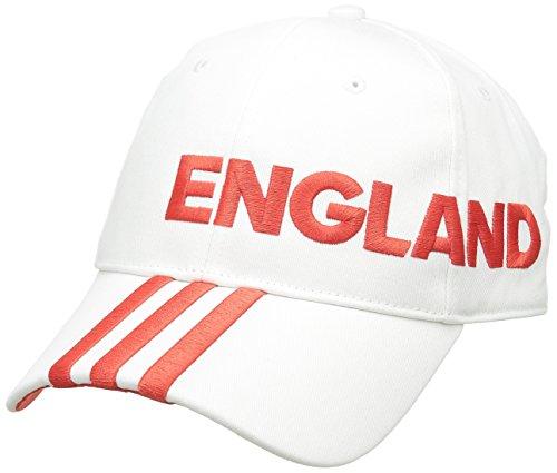 adidas Erwachsene Kappe CF 3S Cap ENG, Weiß/Rot, M, 4055344051771 (England Adidas Training)