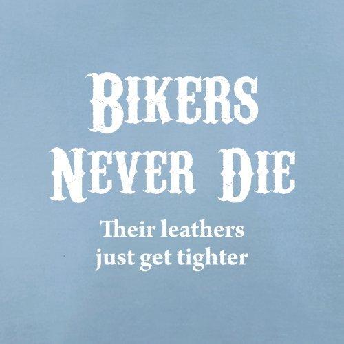 Bikers Never Die - Herren T-Shirt - 13 Farben Himmelblau