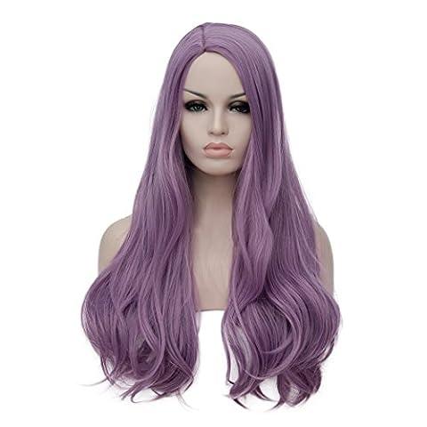 Femme Hobbit Costume - U-power68 Violet perruque Long bouclés ondulés perruque