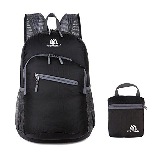 U2SKIIN Ultraleicht Faltbarer Rucksack Wasserdichte Faltbare 20L Nylon Tasche Handliche Daypack für Outdoor Reise Schule (Nylon Tasche Faltbare)
