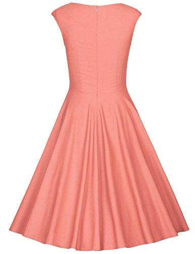 MUXXN Abbigliamento Donna Vestiti Matrimonio Anni 50 Vestiti da Cocktail Vestiti Pink