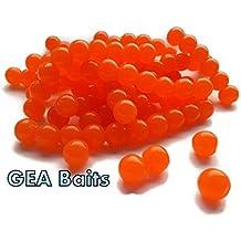 50señuelos naranja como huevos de salmón, para pesca de carpas o trucha, cebo para pesca con mosca, 8mm