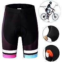 LiHong Shorts de Ciclismo para Mujer Transpirable y Cómodo Secado Rápido Pantalones Cortos de Bicicleta Absorbentes Antideslizantes Ciclismo Pantalones