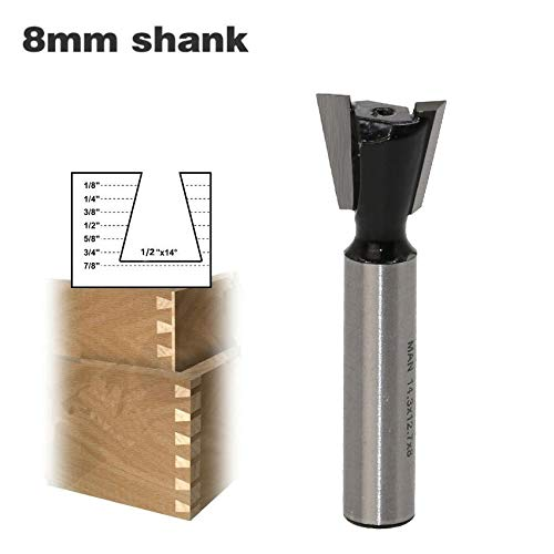 L-Yune, Werkzeuge 1 Stück 8mm Schaft Schwalbenschwanzfräser Industriequalität Wolfram Fräser for Holzschnitzerei Holzbearbeitungswerkzeuge (Cutting Edge Length : As Show)