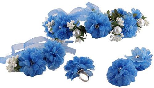 Zoylink 4PCS Blumenkronen Blumen Eleganter Kopfschmuck Hochzeit Hairband FüR Lady Braut Brautjungfer (Blume Hairband)