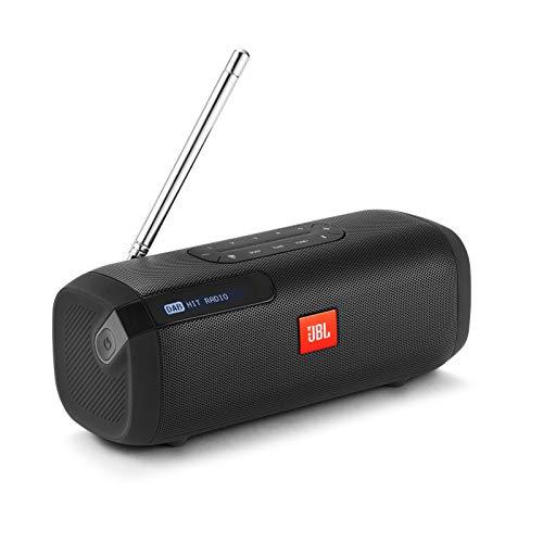 JBL Tuner Radiorekorder in Schwarz, Tragbarer Bluetooth Lautsprecher mit DAB+ & UKW Radio, MP3 fähige Musikbox, Bis zu 8 Stunden kabellos Digitalradio genießen