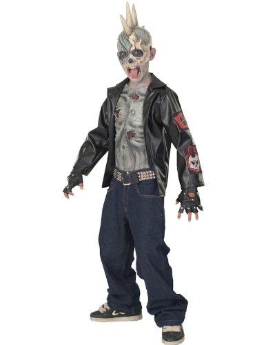 Punk Zombie Kostüm 5-7 Jahre (Punk Kostüm Für Kinder)