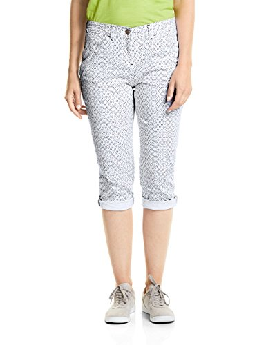 Cecil Damen New York 3/4 Loose Fit Hose, White, W34 -