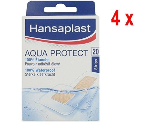 4 x Hansaplast Pflaster - Aquaprotect 100% wasserdicht - 20 Streifen