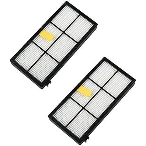 Internet 2pc filtros de aspiradoras para iRobot Roomba 800 870 880 Serie