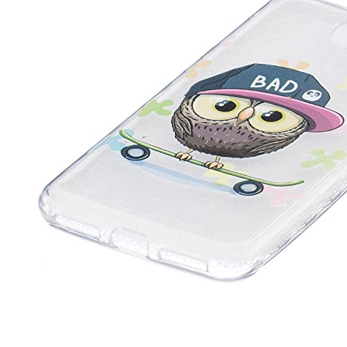 Ukayfe Custodia per Huawei Y5 II,Ultra Slim TPU Gel Gomma Silicone Copertura Case per Huawei Y5 II,Moda Serie Pattern Back Cover Crystal Skin Custodia Stilosa custodia di design Protettiva Shell Case  Gufo