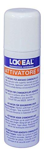 Loxeal Aktivator 9200ml (Set 2Stück 200ml. Spray Aktivator cianoacrilatos Pre und Post. -