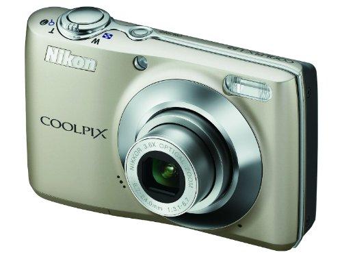 Nikon Coolpix L22 Digitalkamera (12,0 Megapixel, 3,6-fach Weitwinkelzoom, 7,5cm (3,0-Zoll) Display) silber