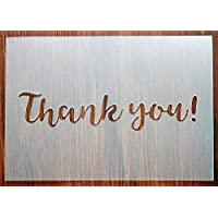 Thank you! A5 Stencil Reusable PP Sheet for Arts & Crafts, DIY