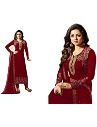 Dealbazaars Women Indo-Western Party Wedding Wear Floor Length Gown/Anarkali Suit/New Arrival Fancy Anarkali GEORGETTE...