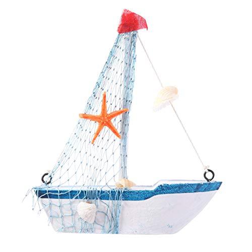 ot Modell Vintage Nautische Segelboot Wohnkultur Ornament Marine Thema Harz Handwerk Foto Requisiten - 11X12,5X3 cm ()