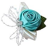 BIGBOBA. Fiore Floreale Polso da Donne Damigella d'Onore Sposa Polso da Strass e Stellato Artificiale Matrimonio Abbigliamento Accessori
