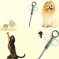 sdfghaWSEfdfghsfgh Pastillas Inicio dispensador de Medicina de la Alimentación Animales Perros Gatos Tableta Medicina alimentador(Color:White&Green)