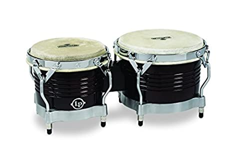 Latin Percussion LP811000 Matador Wood Bongos - Dark Brown/Chrome
