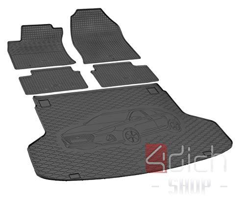 Passgenaue Kofferraumwanne und Gummifußmatten geeignet für Hyundai i30 SW ab 2017 bis 2019 EIN Satz