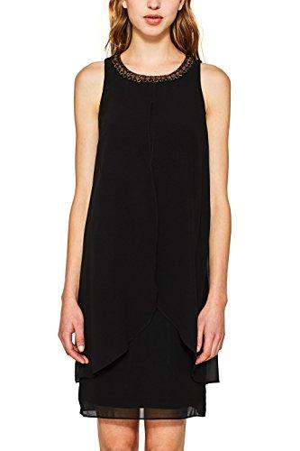 ESPRIT Collection 117eo1e017, Vestido de Fiesta para Mujer, Negro (Bla