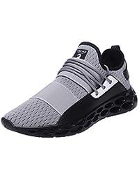 Logobeing Zapatos Hombre Deportivos Casuales Zapatillas Deporte Hombres Running Zapatillas de Tenis de Hombre para Adulto Zapatillas de Deporte de Encaje Ligero y Transpirable