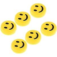 SGerste 6 amortiguadores de Vibración de Tenis – Chocie de Colores Amarillo Sonrisa