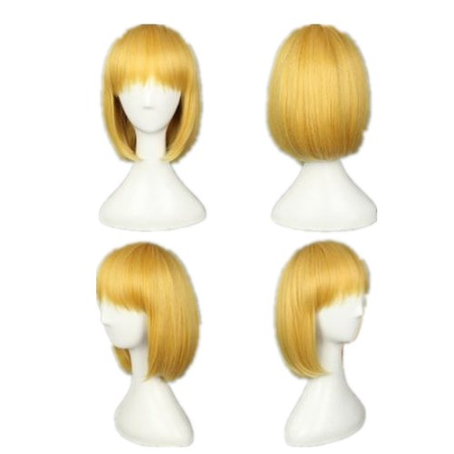COSPLAZA Cosplay Wigs Kostueme Peruecke Attack on Titan Shingeki No Kyojin armin Arla Blond Gelb - Attack On Titan Kostüm Sasha