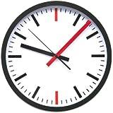 Premier Housewares Wall Clock Minute Detail - Red/Black