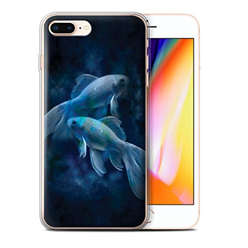 Stuff4 Gel TPU Hülle / Case für Apple iPhone 8 Plus / Löwe/Leo Muster / Tierkreis Star Schild Kollektion Fische/Pisces