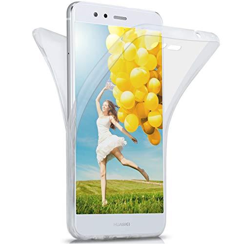 moex Huawei P10 Lite   Hülle Silikon Transparent 360 Grad Double Side Cover Dünne Schutzhülle Slim Handyhülle für Huawei P10 Lite Case Klar Silikonhülle TPU