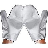 Guantes de Planchado de Vapor de la vajilla Mitt Anti Steam Gloves Guante de Planchado de protección Resistente al Calor Resistente a la Intemperie para Vapor de Ropa Silver-1 Pair