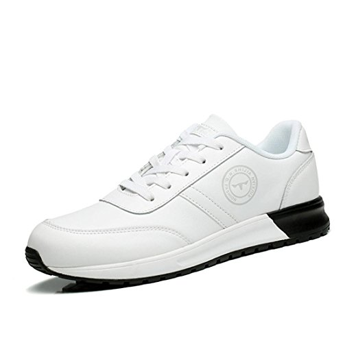 Uomo Moda Scarpe sportive Ballerine Scarpe da diporto formatori Scarpe da ginnastica Guidare euro DIMENSIONE 39-44 white