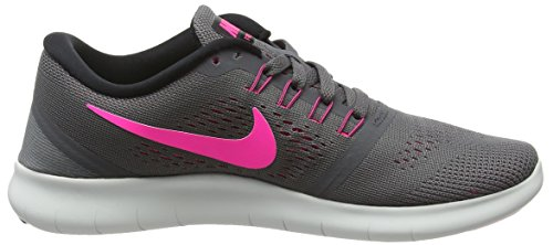 Nike Free Rn, Chaussures de Running Compétition Femme Multicolore (Dark Grey / Pink Blast / Black / Cool Grey)