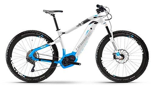 Haibike SDURO HardLife 6.0 500Wh Bosch Intube 27.5R Elektro Fahrrad 2018 (RH 49 cm / 27,5 Zoll, Weiß/Blau/Anthrazit)