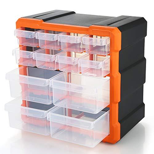 Docooler Electronic Tools Organizer Schublade Kunststoffteile Aufbewahrungsbox Mehrere Fächer Slot Hardware Box Organizer Handwerk Kabinett Werkzeuge Komponenten Behälterzubehör Aufbewahrungskoffer