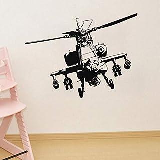 fenshop Sofa Hintergrund Wandaufkleber Vinyl Military Helicopter Selbstklebende Wandaufkleber Kunst Home Art Dekoration Poster adesiv 45x59 cm