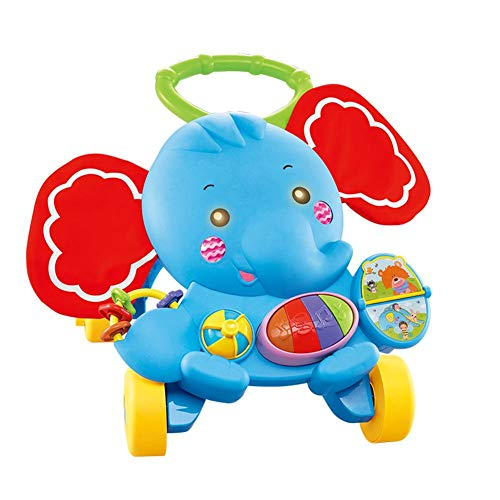 Blue-Yan Baby Learning Walker Trolley Spielzeug multifunktionale Elefant Form Walker mit Musik und Sound-Funktion Weihnachten Geburtstagsgeschenk für Kleinkinder Jungen Mädchen