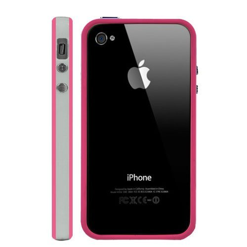 G4GADGET® Coque pour Apple Iphone 4/4S / 5/5S / 5C 4S/4White/Pink